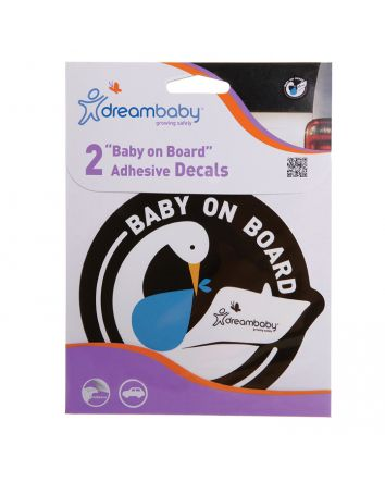 BABY ON BOARD ADHESIVE STORK 2PACK BLUE