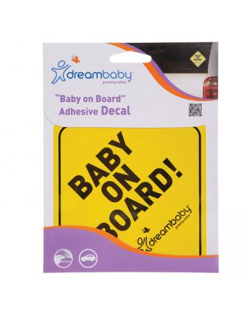 BABY ON BOARD ADHESIVE REGULAR YELLOW SINGLE PACK