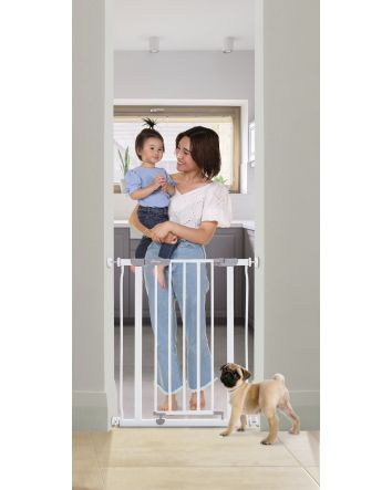 AVA SLIMLINE SECURITY GATE - WHITE
