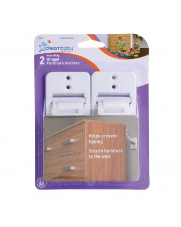 2 x HINGED FURNITURE ANCHORS
