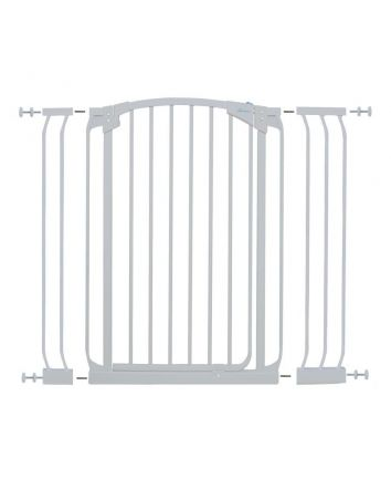 CHELSEA XTRA-TALL WHITE GATE & EXTENSION SET (1 GATE 2 EXTENSIONS)