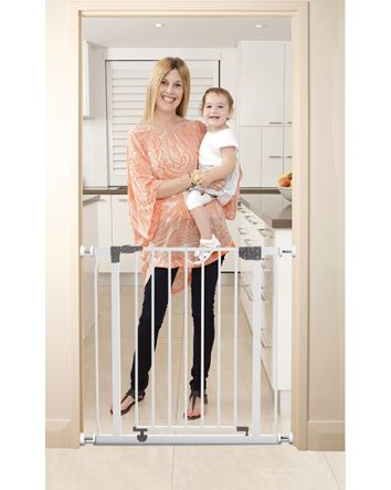 LIBERTY SECURITY GATE WITH SMART STAY-OPEN FEATURE- WHITE