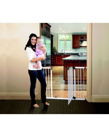 LIBERTY XTRA-WIDE HALLWAY SECURITY GATE  WITH SMART STAY OPEN FEATURE - WHITE