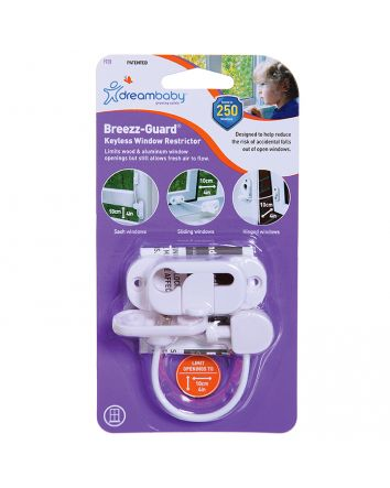 BREEZZ-GUARD®  KEYLESS WINDOW RESTRICTOR