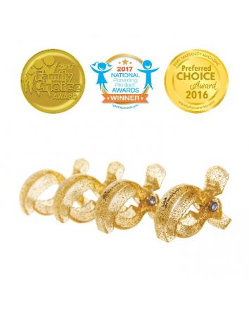 STROLLERBUDDY® STROLLER CLIPS 4 PACK - GOLD