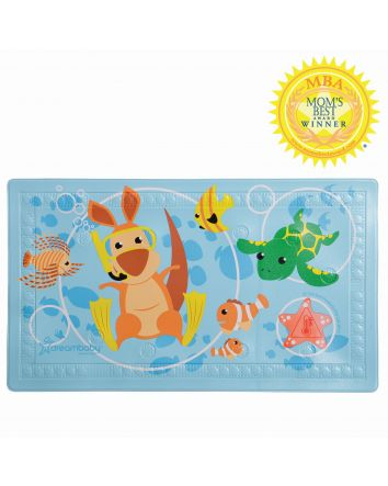 """WATCH-YOUR-STEP® ANTI-SLIP BATH MAT WITH """"TOO HOT"""" INDICATOR"""