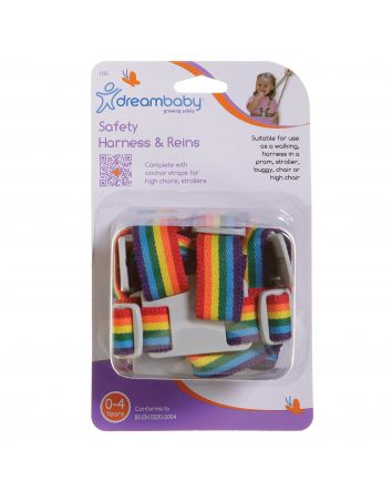 SAFETY HARNESS & REINS - RAINBOW